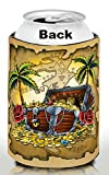 Old School Tattoo Cozy, First Mate, Boaters gifts, Stocking Stuffers, Tiki Bar decor, Beer Related Gifts