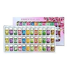 Mini Essential Oils Sets (36X3mL) Aolvo Aromatherapy Fragrance Oil Diffuser Refill Lemon Rose Jasmine Orange Lavender Essential Oil Refill