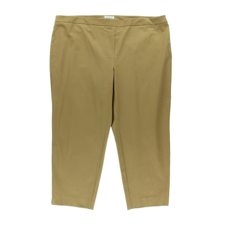 Charter Club Women's Plus Slim Leg Ankle Modern Fit Pants 22w Warm Toffee