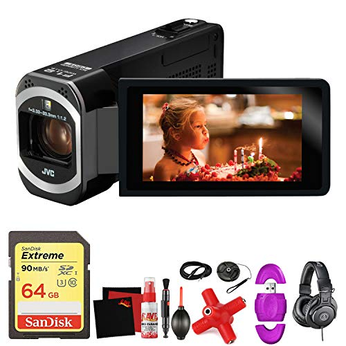 JVC GZ-VX700 Full HD Everio Camcorder with WiFi (Black) -Mega Accessory Bundle - with Memory Card (Tripods For Digital Cameras Jvc)