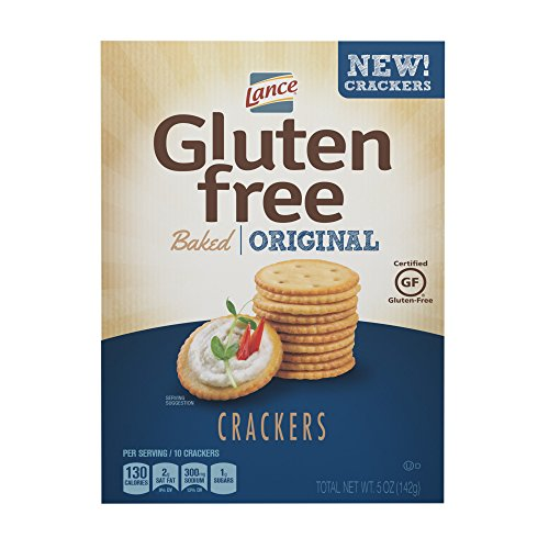 Lance Gluten Free Baked Crackers, Original, 5 Ounce Box (12 Pack)