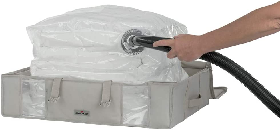 "Compactor Space Saver Vacuum Storage Solution Vacuum Bag to Protect Clothes, Pillows, Duvets, Comforters, Blankets (L (26""x20""x6""), Life 2.0)"