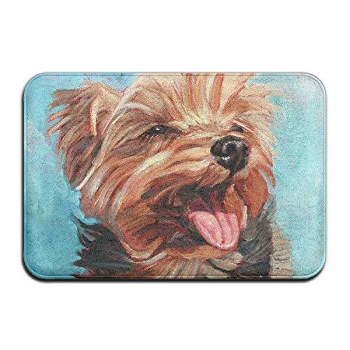 Yorkshire Terrier Dog Welcome Door Mat Entrance Mat Floor Mat Rug Indoor/Outdoor/Front Door/Bathroom/Kitchen Mats Rubber Super Absorbent Non Slip 24x16x1.2inch-Clause