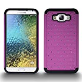 Galaxy E7 Case, CoverON® [Aurora Series] for Samsung Galaxy E7 Diamond Rhinestone Bling Heavy Duty Hard Hybrid Tough (Purple & Black) Phone Cover