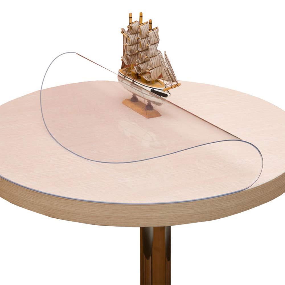 Pvcのテーブルクロス透明な厚い柔らかいガラスのクリスタルプレートの家庭のコーヒーテーブル防水の傷つきにくいテーブルマット,3MM,130CM 130CM 3MM B07SDR9PSP