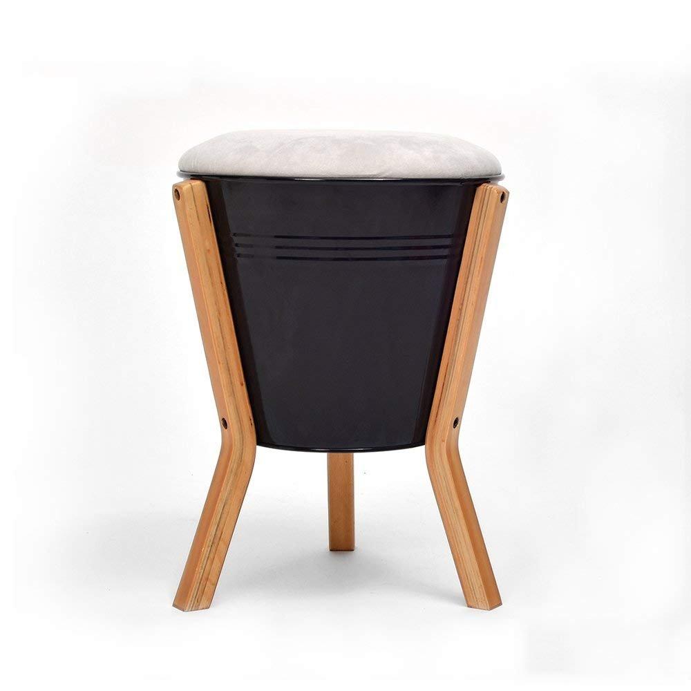 QTQZ Brisk- Solid Wood Storage Sofa Stool Tea Table Stool Fabric for Shoe Stool Storage Stool Multifunction Simple Bed Stool (Color Optional) (Color: B)