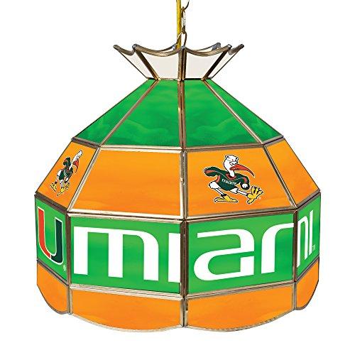 Trademark Gameroom University of Miami 16-Inch Handmade Tiffany Style Lamp - - And Tiffany Miami Co