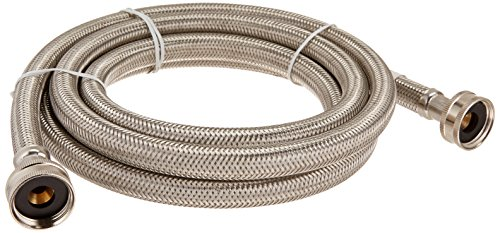 "Certified Appliance WM96SS Braided Washing Machine Connector, Stainless Steel (3/4""FGH X 3/4""FGH, 8 Ft)"