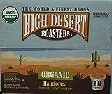 High Desert Roasters Organic Rainforest Medium Roast Coffee 80k-cup Pods