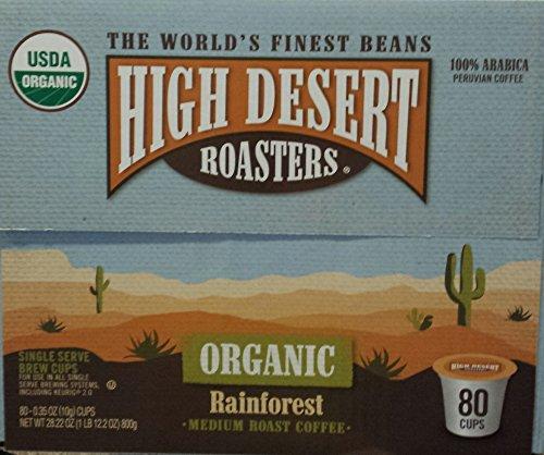 High Desert Roasters Organic Rainforest Medium Roast Coffee 80k-cup Pods (Desert Machine High)