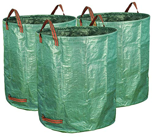 (Gardzen 3-Pack 72 Gallons Garden Bag - Reuseable Heavy Duty Gardening Bags, Lawn Pool Garden Leaf Waste Bag)