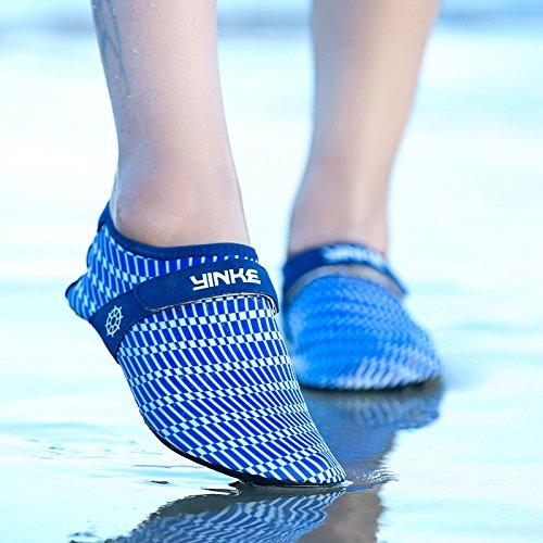 zapatos natación de Zapatos S12 acuático amarillo secado Zapatos transpirable Lucdespo rápido amantes playa piel profundo descalzos calzado de la azul zapatos de esquí pUwYq