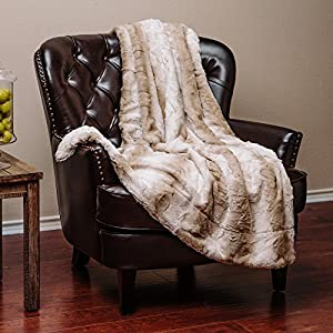 Chanasya Super Soft Fuzzy Fur Elegant Faux Fur Falling Leaf Pattern With Fluffy Plush Sherpa Cozy Warm Microfiber Throw Blanket - Mixed Color Pattern from PurchaseCorner