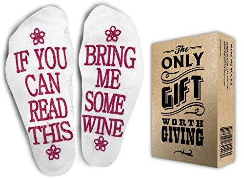 FUNNIEST WINE SOCKS + Gift Box