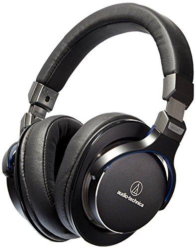 Audio-Technica ATH-MSR7BK SonicPro Over-Ear High-Resolution Audio Headphones, Black (Certified Refurbished)