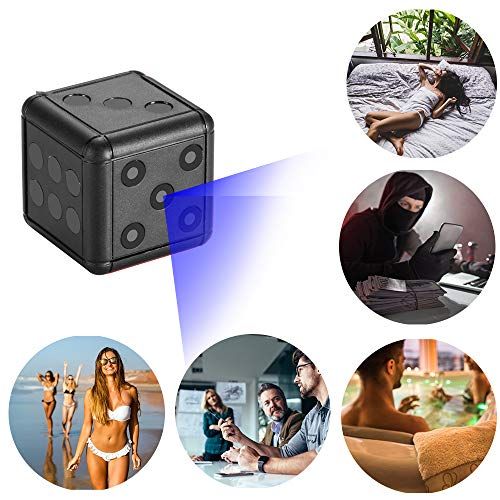 Mini Spy Camera 1080P Decoration Toys Security Hidden Camera,Portable Small HD Nanny Cam with Motion Detection,Mini Video Recorder for Home/Office Surveillance,Support 32GB Internal Memory