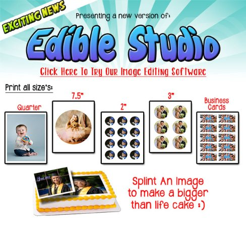 Edible Supply/® Fondant Edible Paper 2 Circles Frosting Sheets 12 Sheets Per Pack