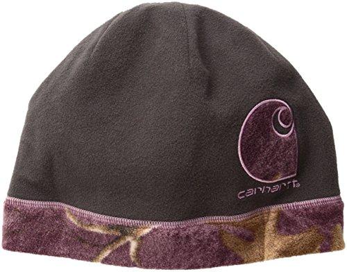 Gretna Collection - Carhartt Women's Gretna Reversible Fleece Hat, Dark Shale, One Size