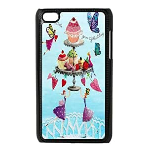 LSQDIY(R) Layered Cake iPod Touch 4 Case, Custom iPod Touch 4 Phone Case Layered Cake