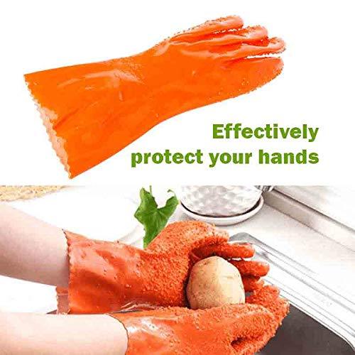 Sttech1 Potato Peelers Gloves, Magic Quick Fruit Vegetable Potato Processing Tools Scrubbing Gloves Rubber Peelers Gloves Kitchen Gadget - Gadget Melon Baller