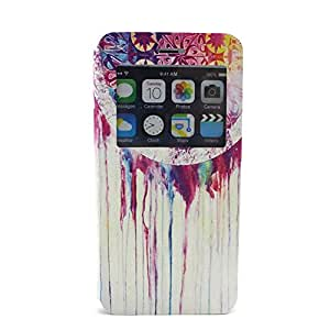 """DDU(TM) 1Pcs Screen Window View Wallet Shell Protector Cover Case for iPhone 6 Plus 5.5""""(NO.5)"""