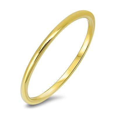 Goldring mit stein  Goldring 585 Gold Massiv Gelbgold 14 Karat Damen Bandring - Ring ...