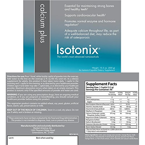 Isotonix® Calcium Plus 10.5 Oz (Pack of 4 Bottles) by Isotonix