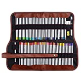 Marco Raffine 7100 72 Art Coloured Pencils with Roll UP Canvas Pouch Package for Adult Coloring Books Drawing Writing Sketching and Doodling Designs and Creativity Colorful Blessings Cards
