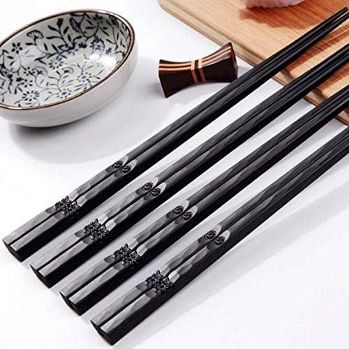 colore legno 22 cm 1 paio di bacchette giapponesi in lega antiscivolo in legno colore sushi chop stick set regalo cinese famiglia amici colleghi regali legno