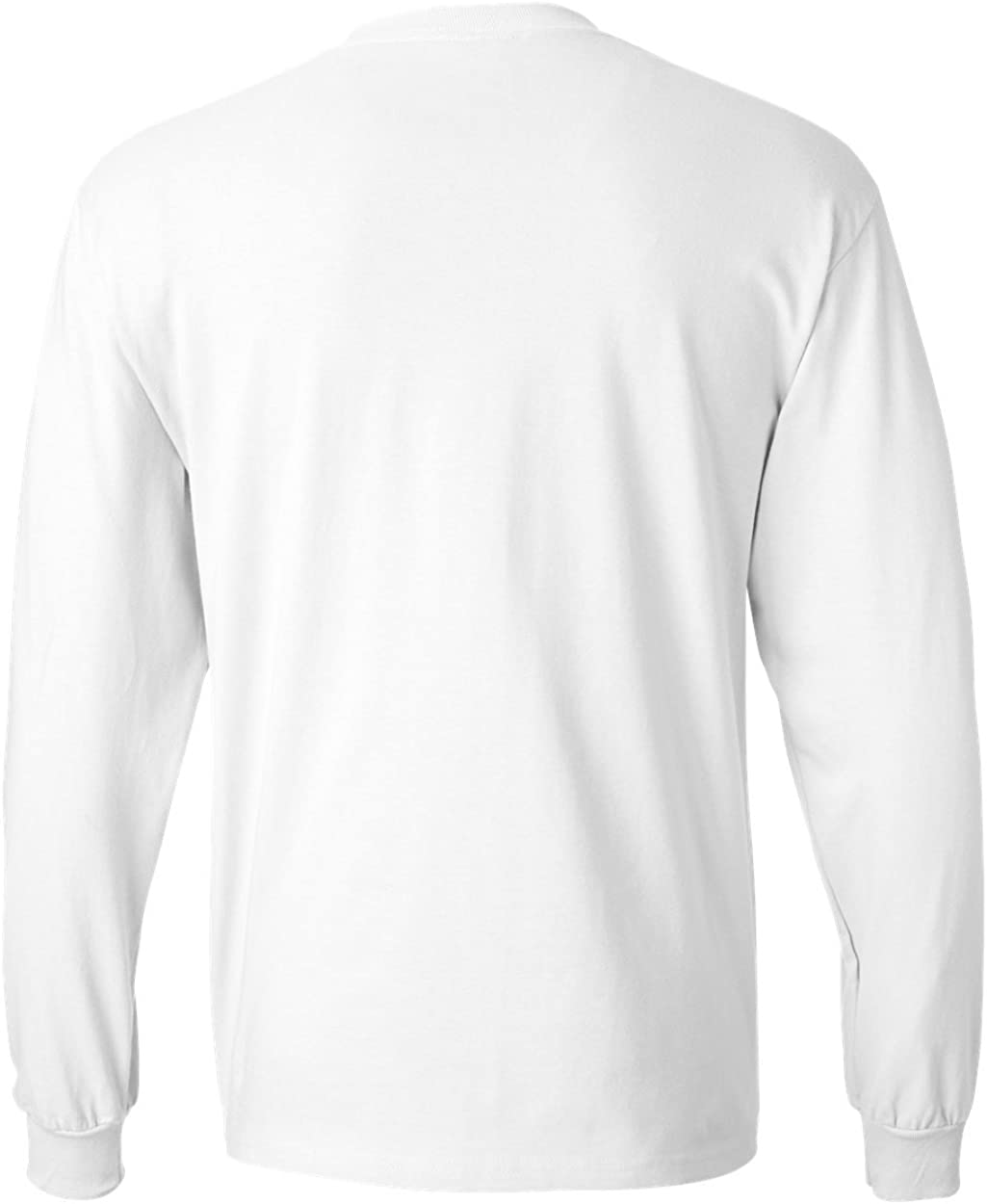 Hanes Men's Long-Sleeve Beefy-T Shirt (Pack of 2) 1 White / 1 Navy
