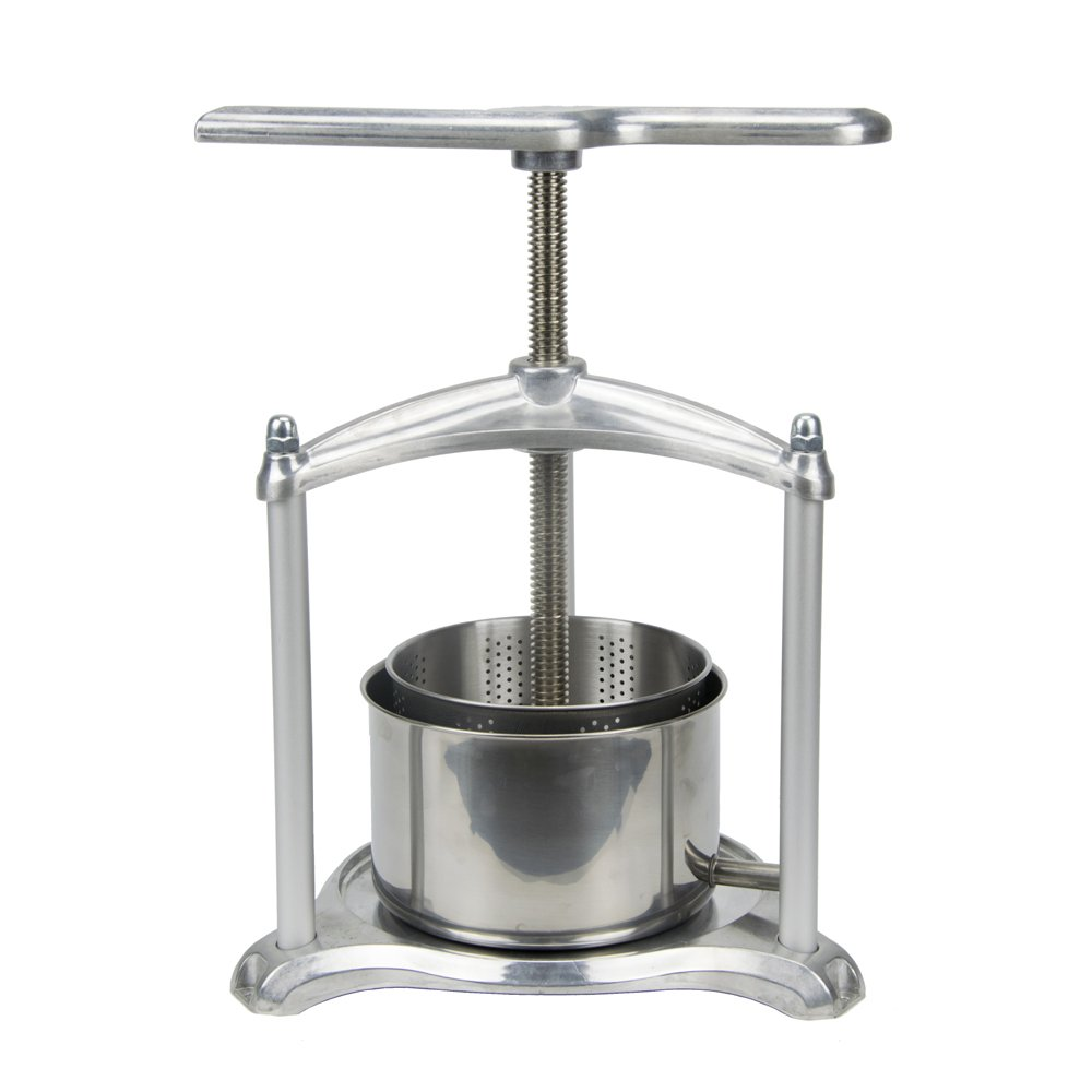 EJWOX 1.6 Gallon Aluminum Soft Fruit Wine Press, Cheese Press Cherries Press Berries Press Herbal Press Tincture Press