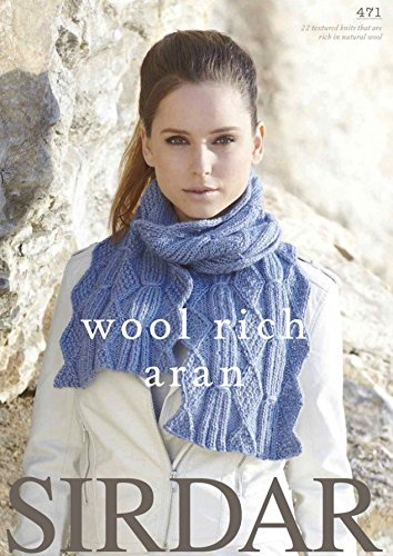 80d001744 Sirdar Wool Rich 471 Knitting Pattern Book Aran  Amazon.co.uk  Kitchen    Home