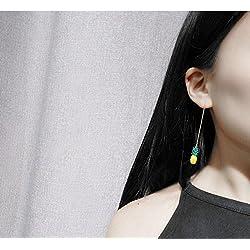 JD Million shop 2017 New Fashion Fine Jewelry Summer Style Gold color lifelike vivid pineapple tassel Stud Earrings For Women Ladies' Gift E-81