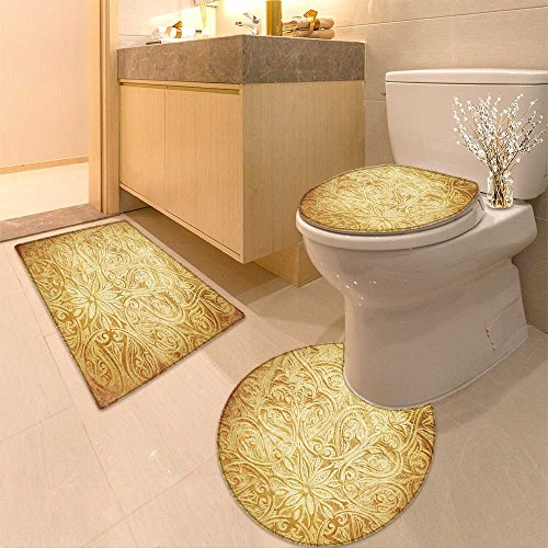 3 Piece Anti-slip mat set American Cowboy on wild west sunset in the evening Non Slip Bathroom Rugs - Evening Sun 16 Piece