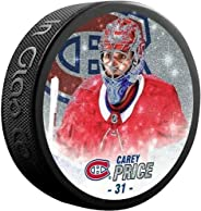 Inglasco Carey Price (Montreal Canadiens) Special Edition Glitter Photo Hockey Puck in Display Cube