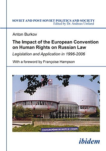 The Impact of the European Convention on Human R – Legislation and Application in 1996–2006
