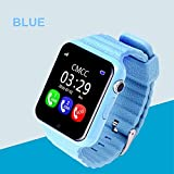 Smart Watch for Kids, GIZEE GPS Tracker Wrist Watch with Camera Anti-lost SOS Remote Monitor for Children Safety, Compatible with IOS Android iPhone Samsung etc. (Blue)