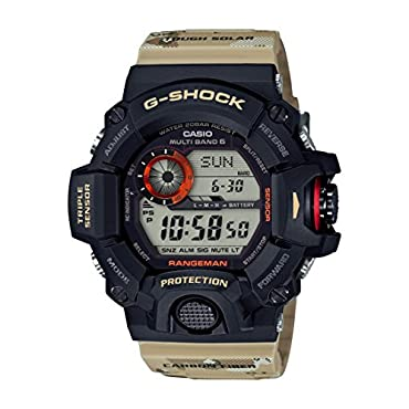 Casio GW-9400DCJ-1 G-Shock Master of G 9400 Desert Camo Series, Beige