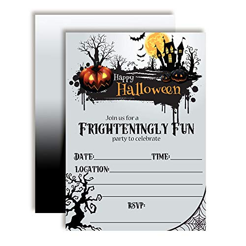 Frighteningly Fun Jack O' Lantern & Haunted House Halloween Party Invitations, 20 5