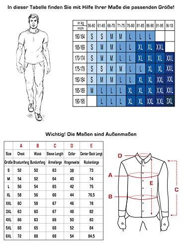 Vogst - Camicia a maniche lunghe da uomo, slim fit, facile da stirare, taglie dalla S alla 6XL nero XXL