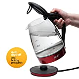 Magic Mill 10 Cup Cordless Electric Kettle Glass Series (RED)