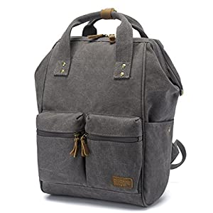 BLUBOON Canvas Backpack Vintage Rucksack Doctor Style Multipurpose School Travel Backpacks for Men and Women