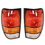 1994-2000 Mazda B-Series B4000 B3000 B2500 B2300 Pickup Truck Taillight Taillamp Rear Brake Tail Light Lamp Set Pair Right Passenger And Left Driver Side (1994 94 1995 95 1996 96 1997 97 1998 98 1999 99 2000 00)