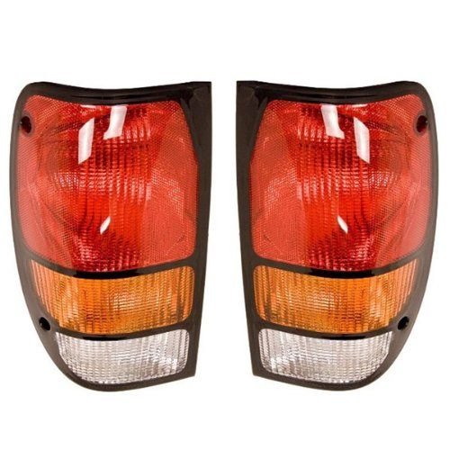 1994-2000 Mazda B-Series B4000 B3000 B2500 B2300 Pickup Truck Taillight Taillamp Rear Brake Tail Light Lamp Set Pair Right Passenger And Left Driver Side (1994 94 1995 95 1996 96 1997 97 1998 98 1999 99 2000 00) (B3000 Series)