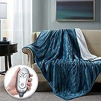 Hyde Lane Heated Faux Fur Throw Blanket