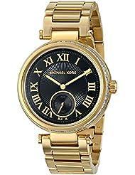 Michael Kors Womens Skylar Watch, Gold/Black, One Size