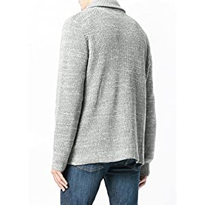 Sweet Dreams Home Anti-Allergenic 100% Baby Alpaca Charcoal Shawl Cardigan, Light Grey, Organic, XL