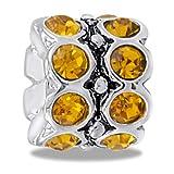 DaVinci Bead November CZ Wheel Birthstone - Jewelry Bracelet Memories Beads DB45-5-DAV