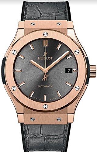 Hublot Classic Fusion Rose Gold Gray 38mm Mens Watch 565.OX.7081.LR