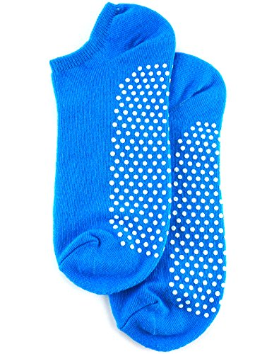 Blue Slip (Non Slip Skid Socks with Grips, For Hospital, Yoga, Pilates,blue)